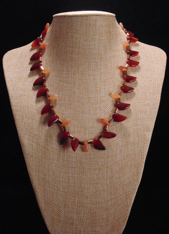 Onina - Red Onyx and Hematite Necklace