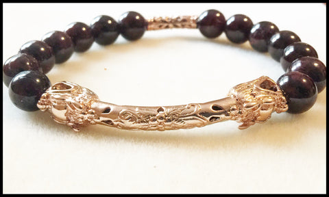 Dragon's Blood - Garnet and Dragon Bracelet - Limited Edition