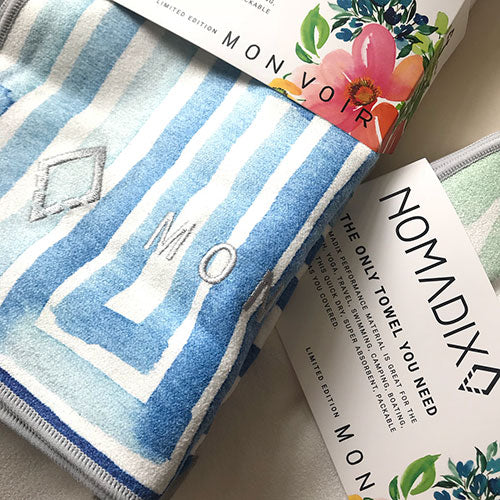 Nomadix watercolor yoga towel