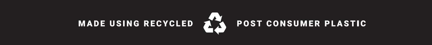 recycle icon and consumer products message