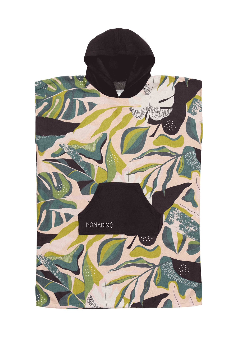 Monstera Green Pink Changing Poncho