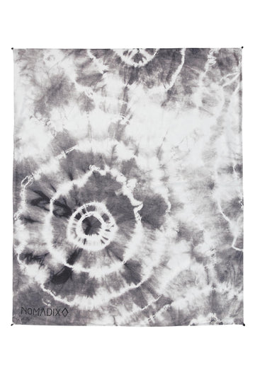 Tie Dye Black and White Festival Blanket