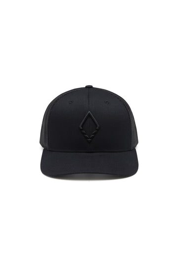 Logo Hat Black Trucker