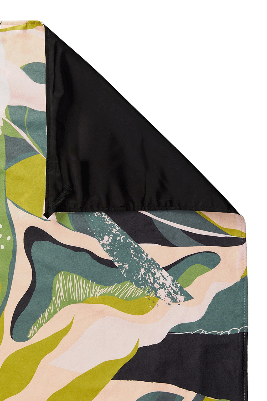 Monstera Green Pink Festival Blanket