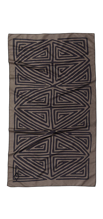 La Playa Brown Black Ultralight Towel