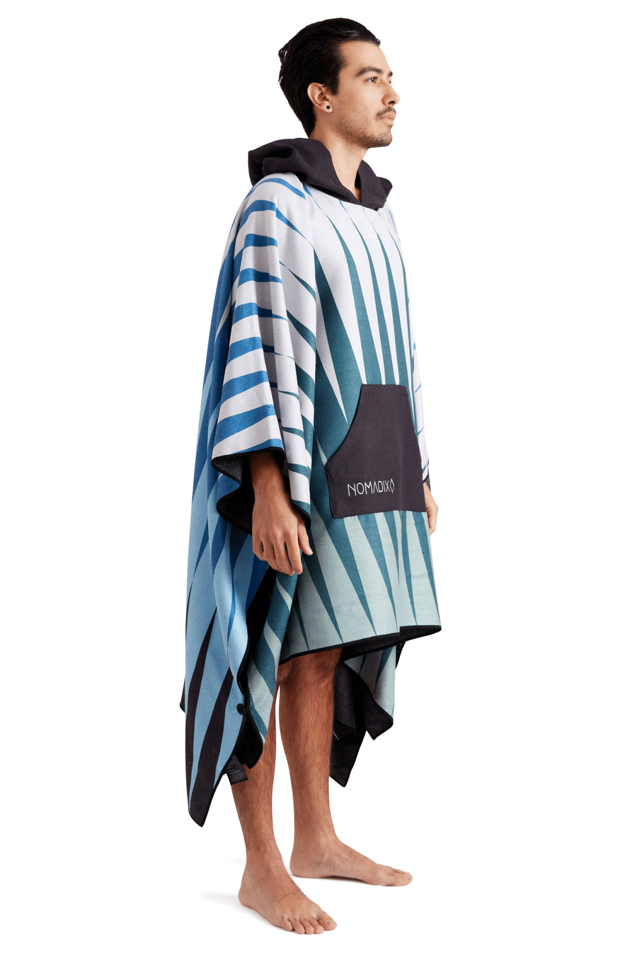 Heat Wave Green Blue Poncho Towel