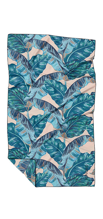 Banana Leaf Teal Ultralight Towel