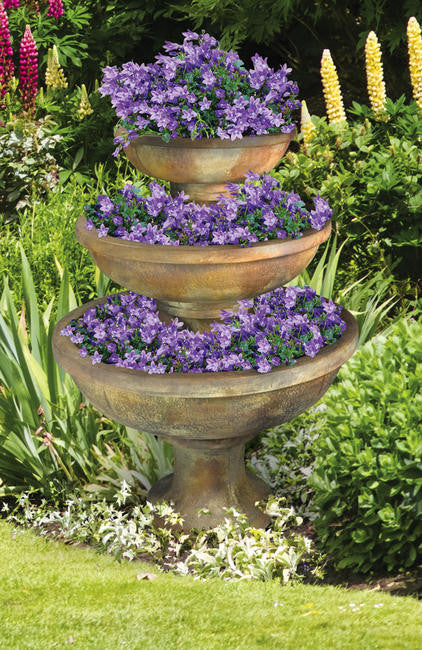 3-Tier Blooming Saucers Planter