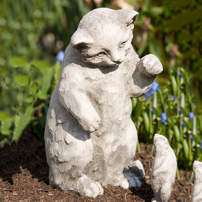Playful Kitten Statue