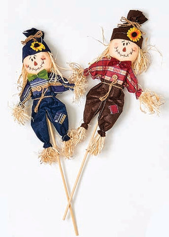 "14"" Scarecrow on Stick"