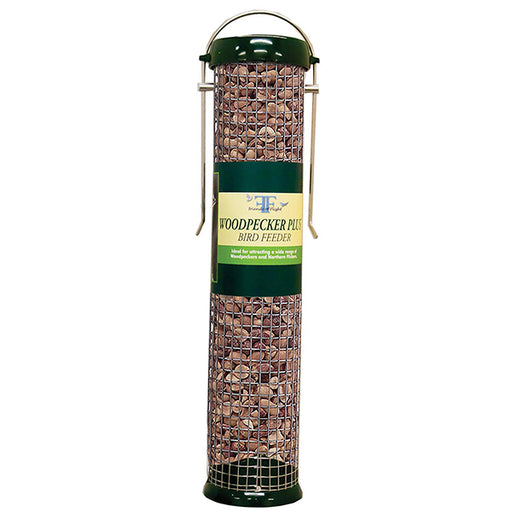 Friends of Flight Green Woodpecker Tube Bird Feeder