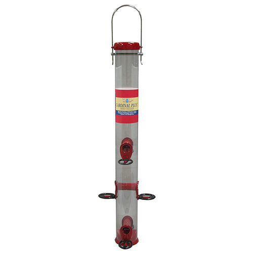 Friends of Flight Cardinal Tube Bird Feeder: Red