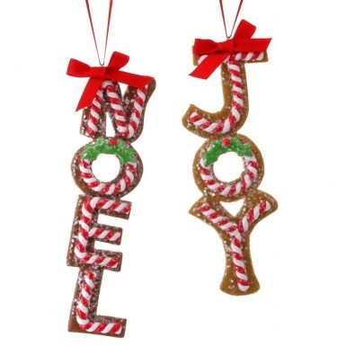 Candied Joy/Noel Gingerbread Ornaments