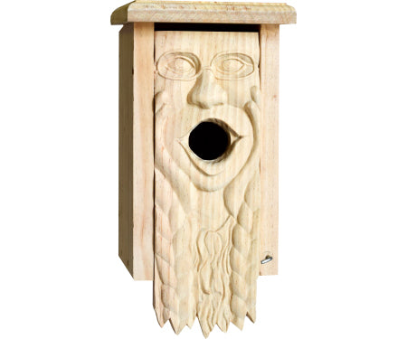 Carved Wood Birdhouses
