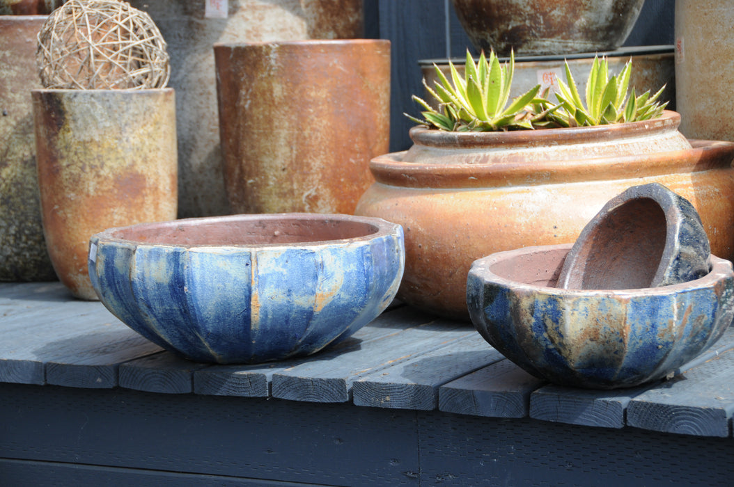 Lotus Bowl, Aegean Blue #50056