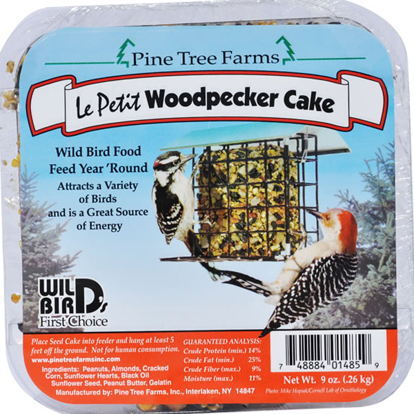 Pine Tree Farms Le Petit Woodpecker Seed Cake