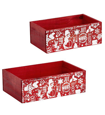 Red Christmas Deco Boxes