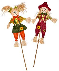 "36"" Scarecrow on Stick"