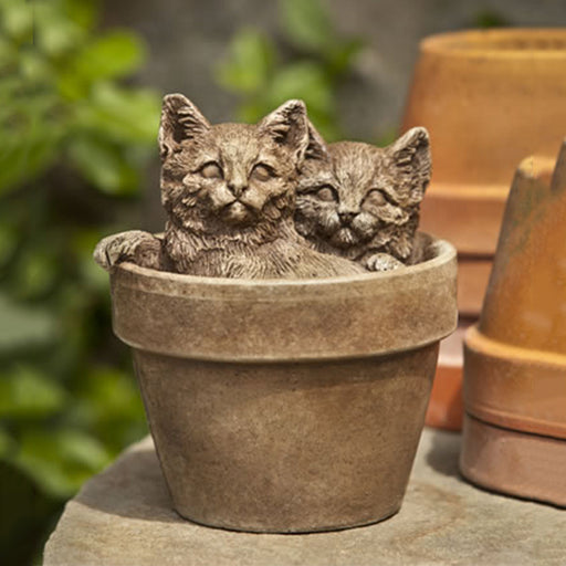 Sprouts Cat Garden Statue