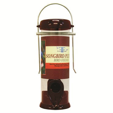 Burgundy Songbird Tube Feeders