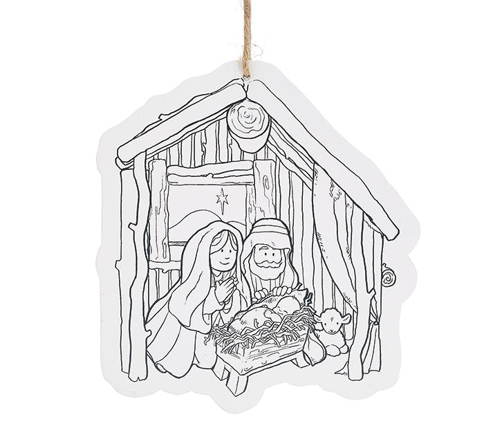 Color Your Own Holiday Decorations
