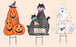 "30"" Metal Halloween Figures"