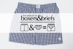 blue and white boxer brief