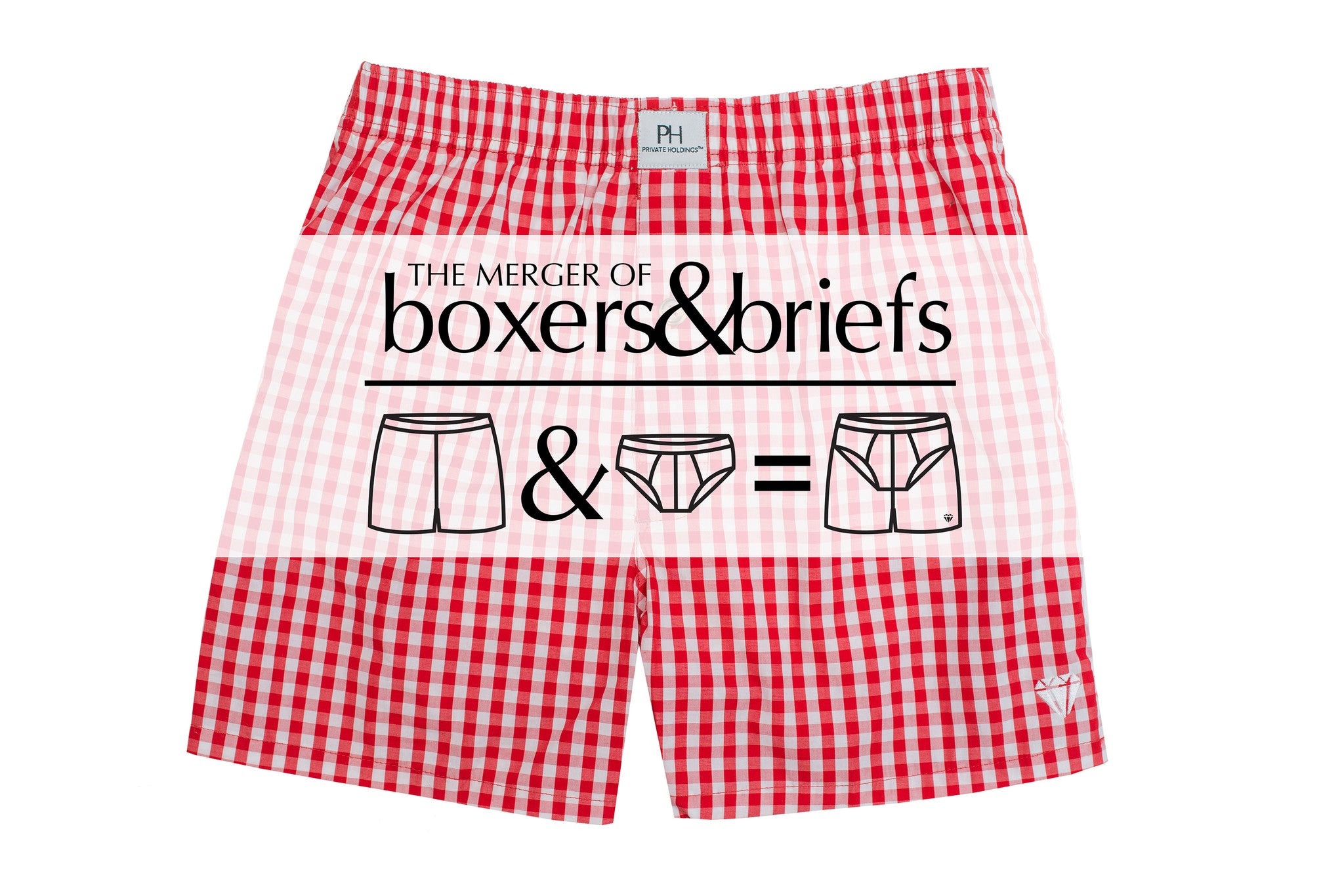 red boxer brief with support