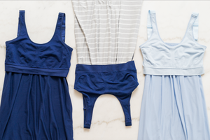 blue nightgown with extra support