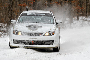 Subaru Rally Car in Snow
