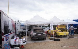 Streetwise Service Area at Olympus Rally