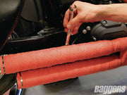 Red HP Color Exhaust Wrap Premium - Streetwise