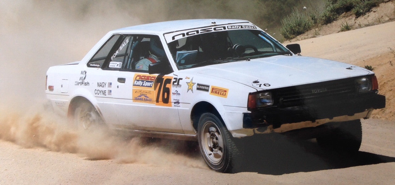 1982 Corolla TE72 Rally Car at Idaho Rally