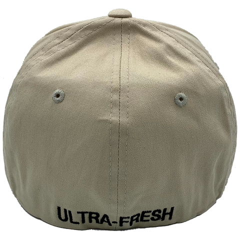 Tan Flexfit Sackup Hat - back view