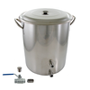10 Gallon Stainless Brew Kettle - 2 Welds Valve & Plug