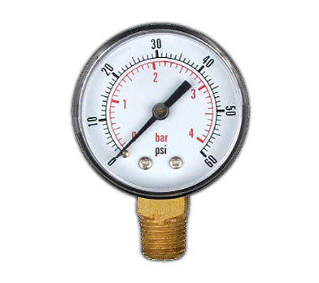 Regulator Gauge 0-60 psi LHT
