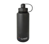 EcoVessel Triple Insulated Black Stainless Growler