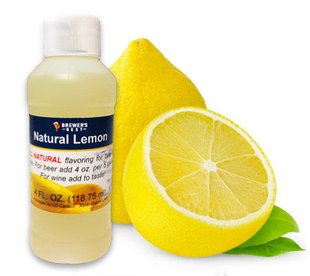 All Natural Lemon Fruit Flavoring (4 oz)
