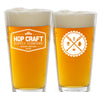 Hop Craft Pint Glass