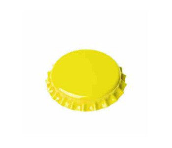 Yellow Oxygen Barrier Bottle Caps - 144 Count