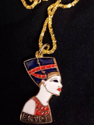brass-and-enamel-necklace-nefertiti-with-chain-handmade-in-egypt