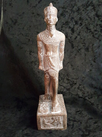 Aswan Granite Seti l Statue Made in Egypt by Semed.