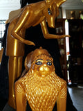 Anubis in the rite of Mummification. Gold and Black Made in Egypt 43cm tall