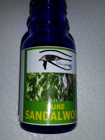 Shezmu PURE  SANDALWOOD Egyptian Essences Oils 10ml dropper. Imported from Egypt