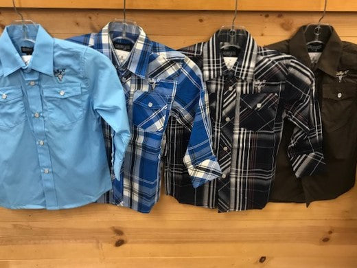 Kids Long Sleeve Button Ups