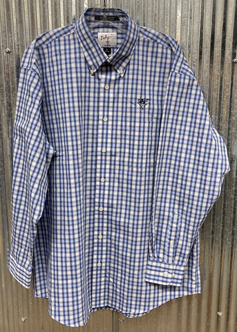 Blue & White Large Plaid