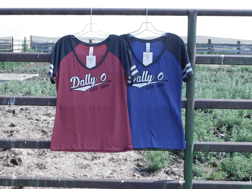 Jersey V-Neck Tee - Red