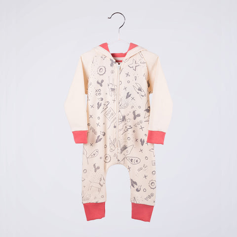 Wall Jumpsuit / Pink