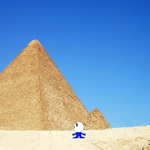 The Main Man Scoping a Pyramid