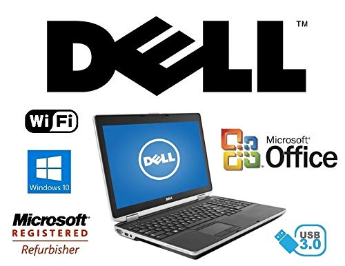 "Dell Latitude E6530 15.6"" Windows 10 Pro Laptop - Core i7 2.7GHz CPU / 16GB RAM/ 120GB Solid State Drive SSD / HDMI Notebook PC / USB 3.0"